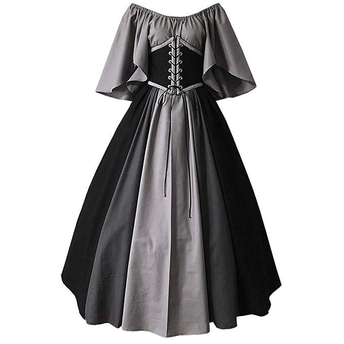 Amazon.com: CosplayDiy - Vestido medieval para mujer, estilo ...