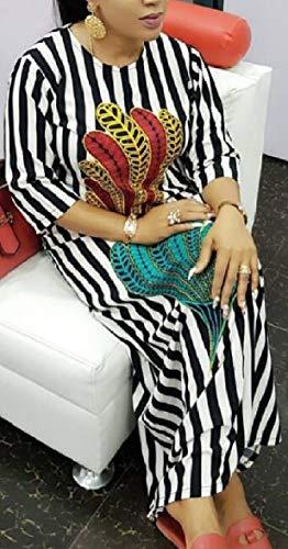 Half Casual AU Loose Sleeve Vertical Sodossny Maxi Womens Stripes 1 Dress YEx4wqxngd