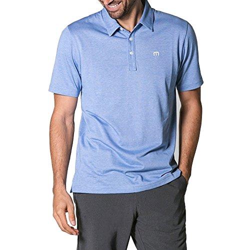 TravisMathew Men's The Zinna Polo Strong Blue ()