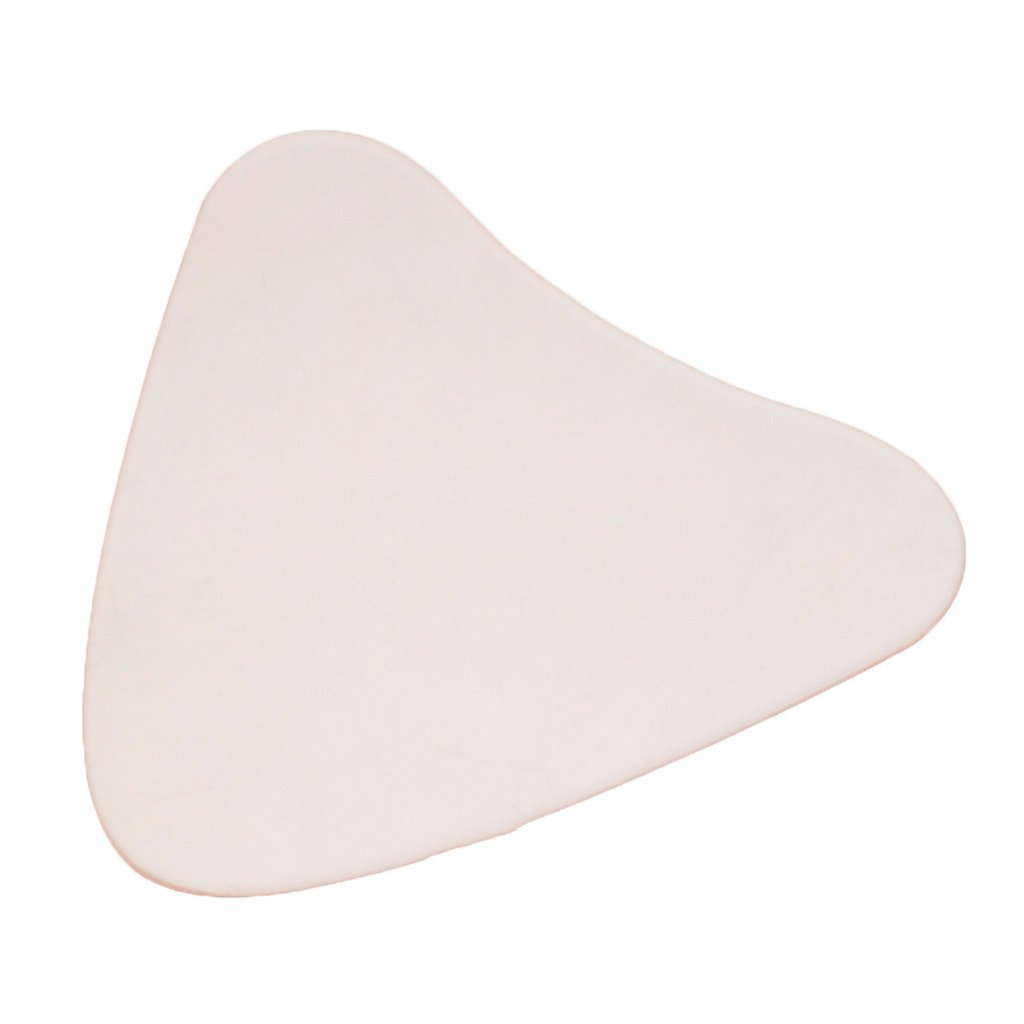 Jili Online Ladies Fashion Anti-Wrinkle Chest Silicone Convenient Reusable Pad of 3 Styles - Triangular Beige, as described