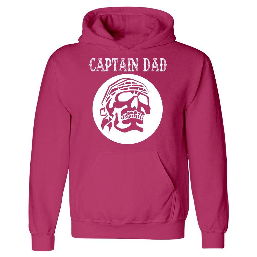 Captain Dad Hoodie Treasure Ship Skull Humor Funny Pirate