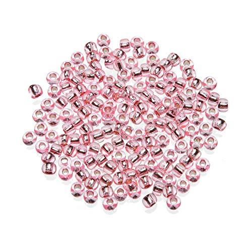 Darice Bulk Buy DIY Toho Japanese Glass Seed Beads Silver-Lined Pink 6/0 4mm (3-Pack) 1952-18