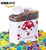 Water Beads, 9 OZ pack (42,000 Beads), Crystal Gel Pearls, Rainbow Mix for Furniture Decorative Vase Filler