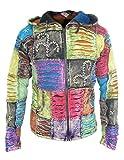 Little Kathamandu Men's Cotton Ribs Razorcut Slashed Pixie Pointed Hood Jacket Summer X-Large