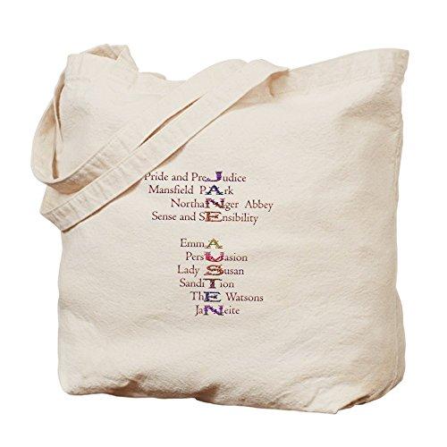 CafePress Jane Austen Books2 - Natural Canvas Tote Bag, C...