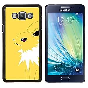 Yellow Monster empuje- Metal de aluminio y de plástico duro Caja del teléfono - Negro - Samsung Galaxy A7 / SM-A700