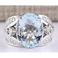 Women Fashion Jewelry 925 Silver Aquamarine Gemstone Wedding Engagement Ring New (9)