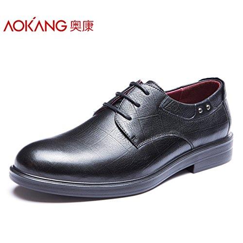Aemember Scarpe Uomo Inverno abiti Business uomini Shoe-Slip resistente scarpe basse modello maschile ,40, nero