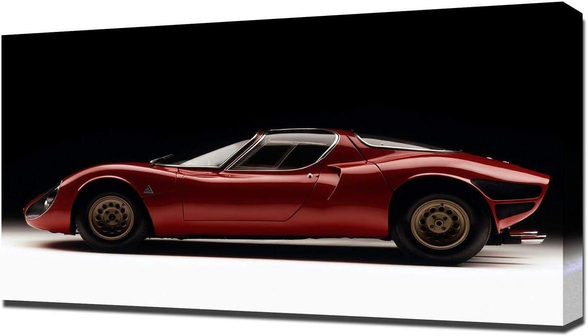 Lilarama USA 1967 Alfa Romeo Tipo 33 Stradale Prototipo V2 - Canvas Art Print - Wall Art - Canvas Wrap