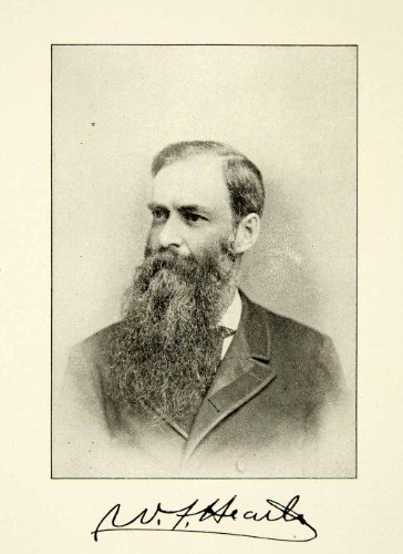 1900 Print WF Heath Portrait Music Teachers National Association Victorian Beard - Original Halftone Print - Victorian Secretary
