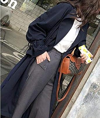 nobrand Cappotto da Donna Trench Lungo Primavera Cappotti Femminili Moda Pieghe Chiffon Splice Sottile Outwear Sciolto Trench Cappotto