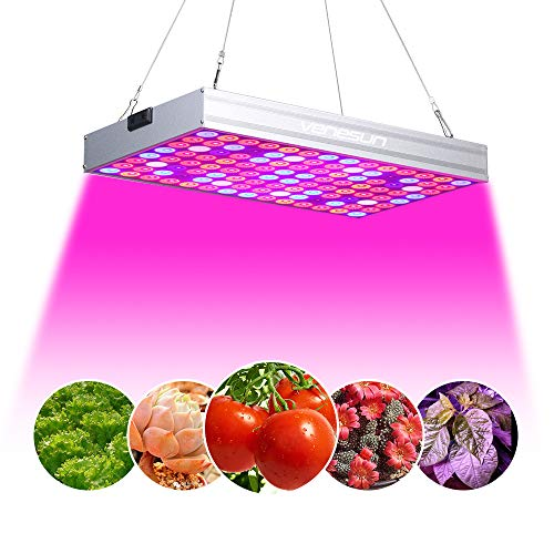 Venesun 150W LED Grow Light Full Spectrum with UV & IR, No Noise Plant Grow Lamps with Daisy Chain for Indoor Plants. Energy-efficient, Works for All Stages-2018 New