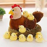 Wukong Creative Old Hen Plush Toys Chicken Plush Toy with A Group Chicken Plush Toys