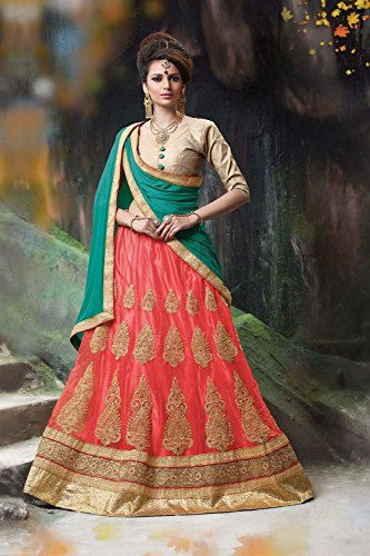 IWS Indian Women Designer Wedding Red Lehenga Choli Fabz-2078