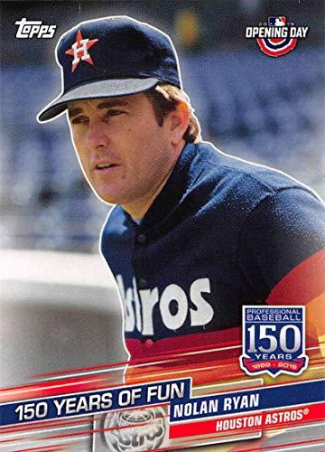 2019 Topps Opening Day 150 Years of Fun Set #YOF-17 Nolan Ryan Astros MLB Baseball Card NM-MT