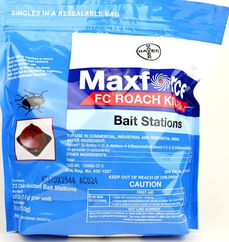 Bayer Maxforce FC Roach Killer Small Bait Stations Insecticide