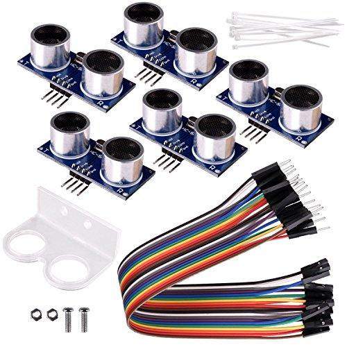 - kuman 5pcs Hc-sr04 Ultrasonic Distance Measuring Sensor Module kit for Arduino UNO Mega R3 Mega2560 Duemilanove Nano Raspberry Pi 3 Robot K18
