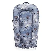 DockATot Deluxe+ Dock (Mrs. Mighetto, Night Night) - The All in One Baby Lounger, Portable Crib and Bassinet - Perfect for Co Sleeping - Breathable & Hypoallergenic - Suitable from 0-8 months