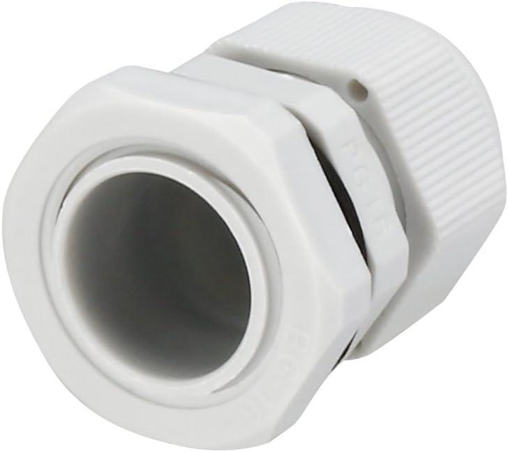 sourcing map 5pcs PG11 Presse-/étoupe Joint /étanche blanc r/églable fil 5mm-10mm/Ø