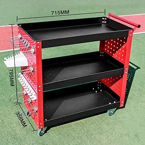 工具入れカート カートロリー多機能厚みの自動修復ツール車修理のモバイルプッシュ部品カート 工具カート キャビネット (色 : Red, Size : 72x36x80cm)