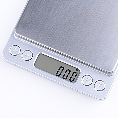 500g x 0.01g Digital Jewelry Kitchen Precision Scale 1 W Piece Counting ACCT-500 .01 gram with Salver GETOR