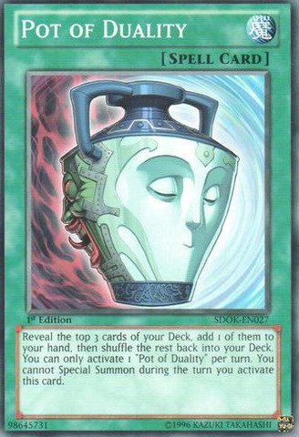 Yu-Gi-Oh! - Pot of Duality (SDOK-EN027) - Structure Deck: Onslaught of the Fire Kings - 1st Edition - Common