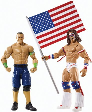 WWE Battle Pack Series #31 - John Cena vs. Ultimate Warrior with USA Flag Figure Two-Pack