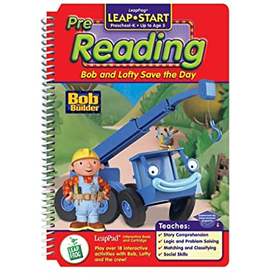 """LeapPad: LeapStart Pre-Reading - """"Bob and Lofty Save the Day"""" Interactive Book and Cartridge: Toys & Games"""