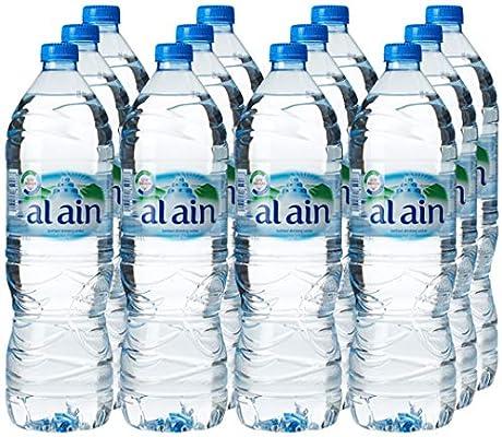 مجموعة العرض الكبير من زجاجات مياه العين للشرب 1 5 لتر مجموعة من 12 زجاجة Amazon Ae