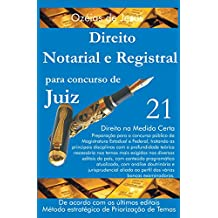 Concurso para Juiz: Direito Notarial e Registral (Portuguese Edition)