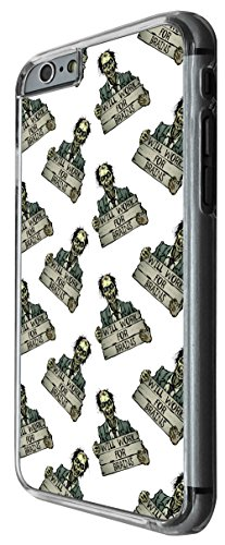 1116 - Cool funny zombie walking dead will work for brains scary Design For iphone 4 4S Fashion Trend CASE Back COVER Plastic&Thin Metal -Clear