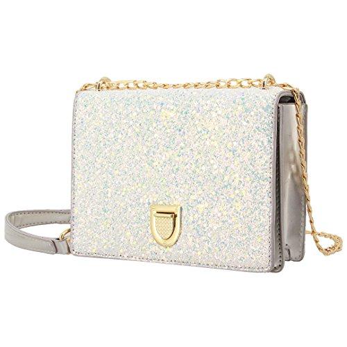 Glitter Purse - Gabrine Womens Shoulder Crossbody Evening Bag Handbag Clutch Purse Glitter Sequin for Dailywear Wedding Party