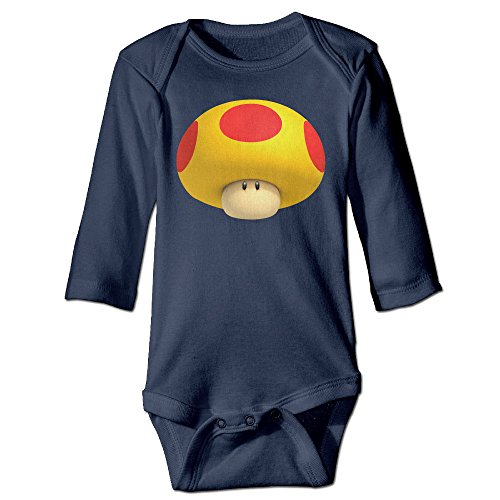 Super Mario Couples Costumes (Bro-Custom Cute Super Mario For 6-24 Months Newborn Romper Bodysuit 6 M Navy)
