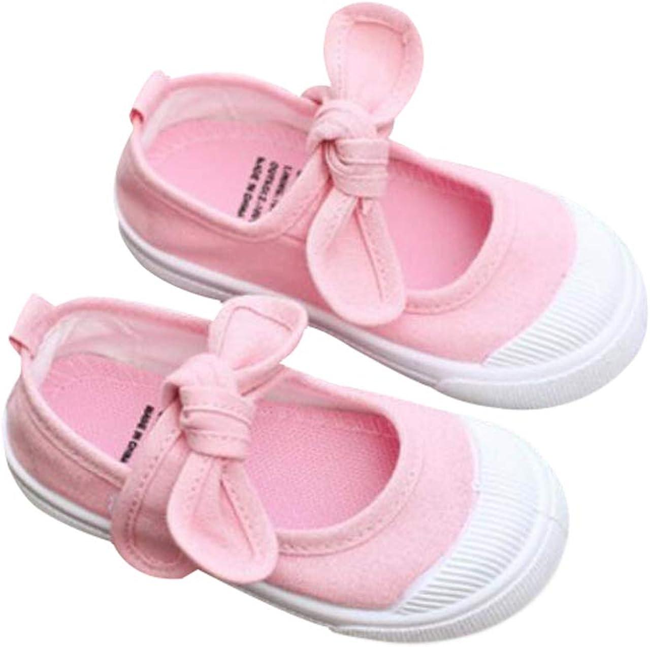 Zapatos Planos Zapatillas de Deporte con Suela Suave Adecuado para Ni/ñas de 1-12 a/ños DEBAIJIA Primeros Pasos Zapatos Escuela Lona Ni/ña Lazo Antideslizante Moda Casual Deportes