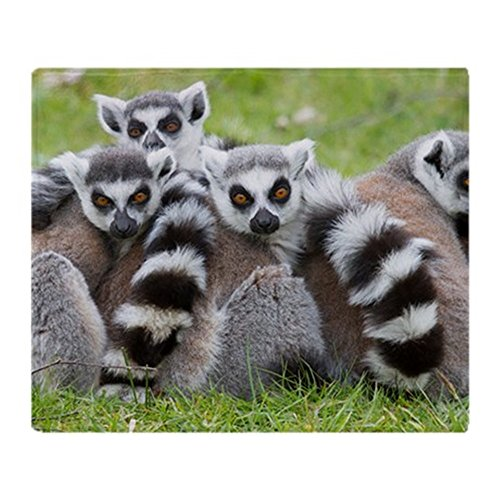 CafePress - Ring-Tailed Lemur (Lemur Catta) - Soft Fleece Throw Blanket, 50