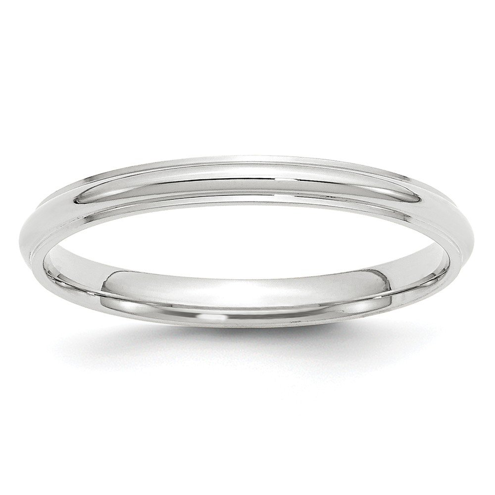 Top 10 Jewelry Gift 14KW 2.5mm Half Round with Edge Band Size 7