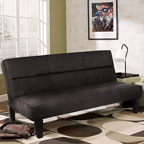 "Best Choice Products Microfiber Futon Folding Couch Sofa Bed w/6"" Mattress Sleep Recliner Lounger"