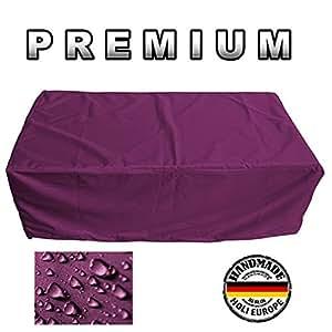 Muebles de Jardín Premium Funda Protectora/mesa de jardín Lona B 269cm x t 95cm x h 75cm burdeos