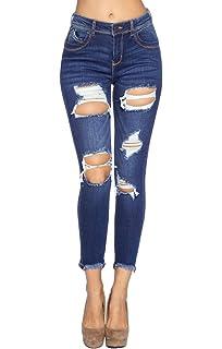 Amazon.com: ICONICC - Pantalones vaqueros ajustados para ...