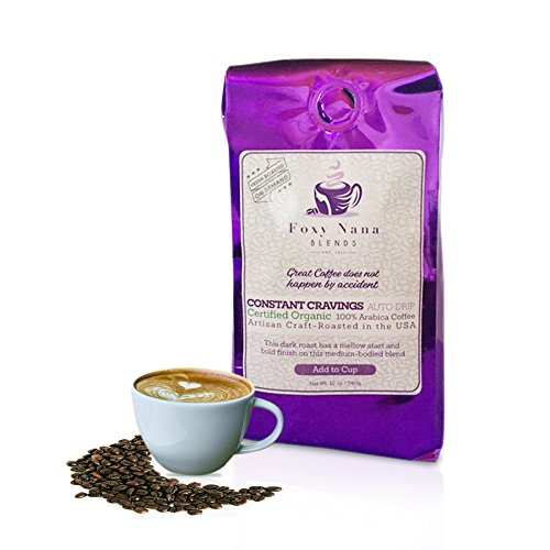 Organic Coffee Ground Dark Roast - Espresso Allegro Organic Fair Trade Certified Dark Roast Coffee | Artisan Craft Roasted 100% Arabica Coffee | 12 Oz