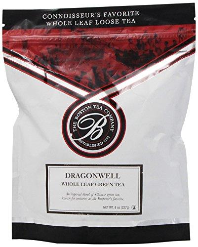 Boston Tea Finest Grade Loose Dragonwell Green Tea, Bulk,  Resealable 8-Ounce Pouch