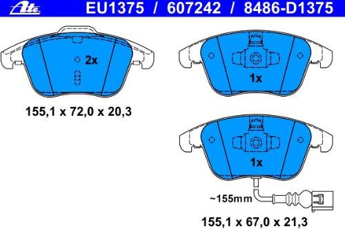 ATE 13.0460-7242.2 Bremsbelagsatz Scheibenbremse