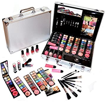 60d6a93bff05 Mega Cosmetics Makeup Vanity Case Filled 86 Pieces (E031): Amazon.co ...