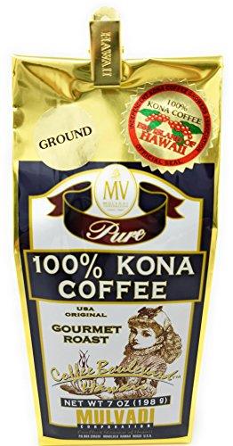 Kona Coffee, 100% Pure, Ground, Gourmet Roast (7 Ounce, 198 g)