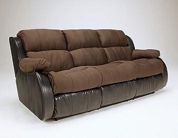 Amazoncom Presley Espresso Reclining Sofa by Ashley Furniture