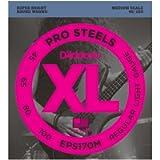 D'Addario EPS170M ProSteels Bass Guitar Strings, Light, 45-100, Medium Scale