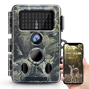 Flashandfocus.com 51DR2zRY6zS._SS300_ 4K 30MP Trail Camera, WiFi Bluetooth 940nm No Glow Night Vision Hunting Game Camera 3 PIR 120° Wide 65ft Trigger IP66…