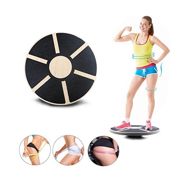 Gifort Balance Board, Planche de thérapie, Plateau d'équilibre, Fitness Exercice coordination 39.5 cm de diamètre Pour…