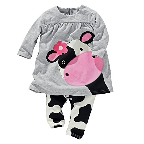 (2016 baby girl clothes casual long-sleeved Dress-shirt+Pants suit (7-9)