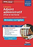 Concours adjoint administratif annales corrigées